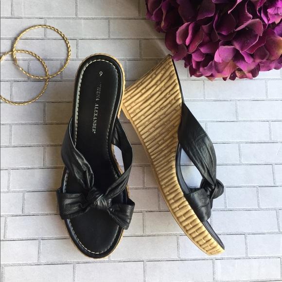 athena alexander Shoes - Black wedge